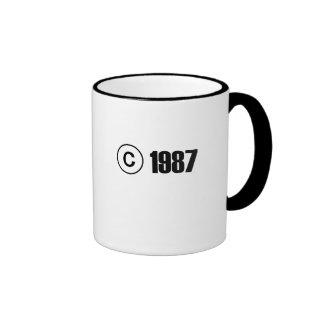 Copyright 1987 ringer mug