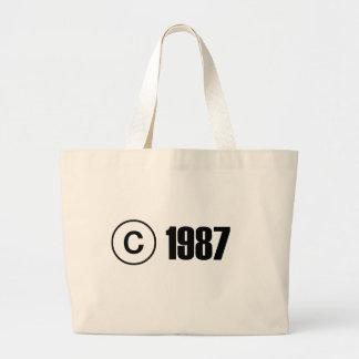 Copyright 1987 tote bags