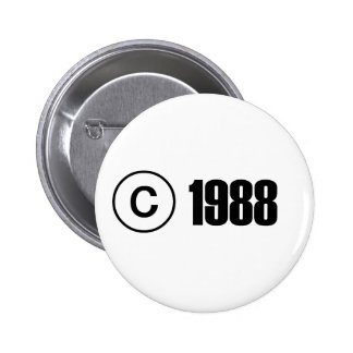 Copyright 1988 pinback button