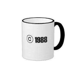 Copyright 1988 ringer coffee mug