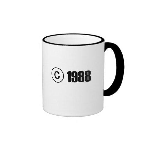 Copyright 1988 coffee mug