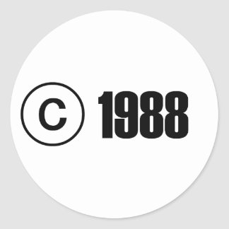 Copyright 1988 sticker