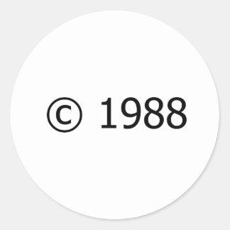 Copyright 1988 round stickers