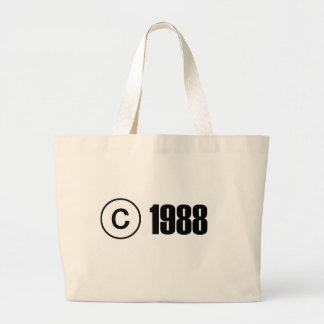Copyright 1988 jumbo tote bag