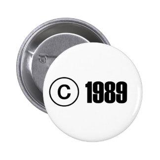 Copyright 1989 pinback buttons