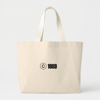 Copyright 1989 tote bags