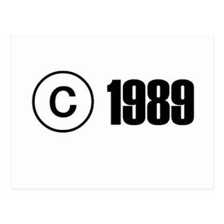 Copyright 1989 postcard