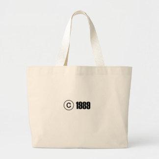 Copyright 1989 tote bags
