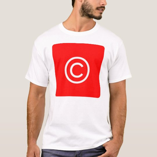 Copyright IOS Button T-Shirt