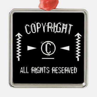 Copyright Symbol All Rights Reserved With Arrows Christmas Ornament
