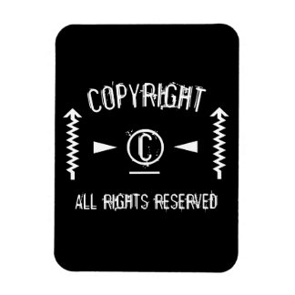 Copyright Symbol All Rights Reserved With Arrows Magnet