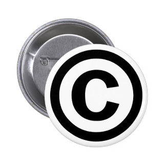 Copyright Symbol Copyrighted Copy Right Icon Sign 6 Cm Round Badge