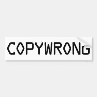 Copywrong Bumper Stickers