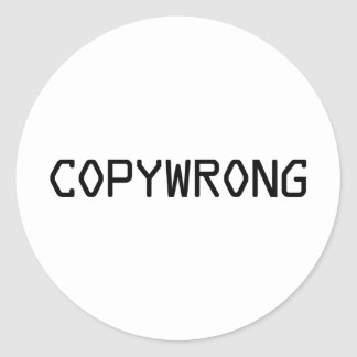 Copywrong Classic Round Sticker