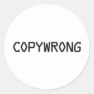 Copywrong Round Sticker