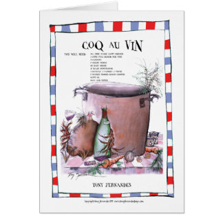 coq au vin recipe, tony fernandes greeting card