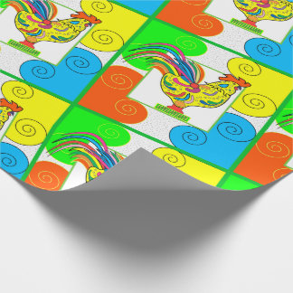 "COQ CHICKEN 30"" x 15'  CARTOON WrappingPaper MATTE"