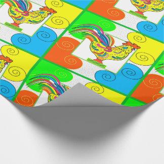 "COQ CHICKEN 30"" x 45'   CARTOON WrappingPaper"