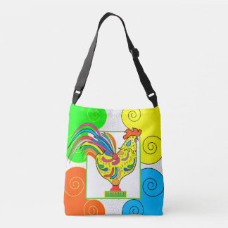 COQ CHICKEN All-Over-Print Cross Body Bag MEDIUM