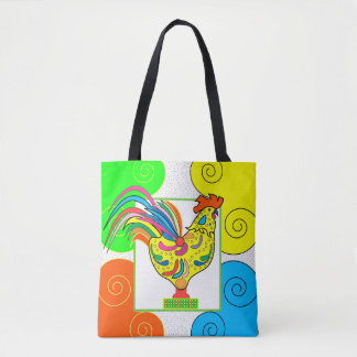 COQ CHICKEN All-Over-Print Tote Bag MEDIUM