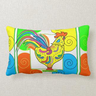 """COQ CHICKEN THROW PILLOW Lumbar Pillow 13"""" x 21"""""""