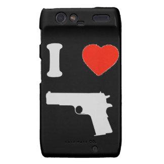 "Coque Motorola Droid ""I coils gun"" (black) Droid RAZR Case"