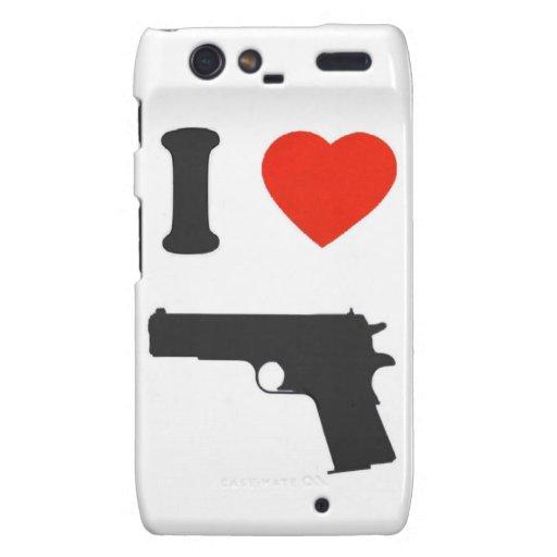"""Coque Motorola Droid """"I coils gun"""" (white) Motorola Droid RAZR Case"""