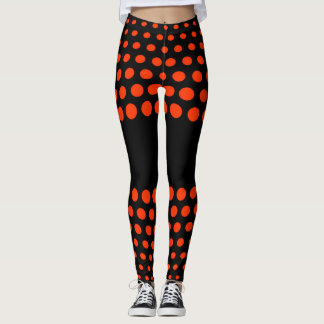 Coquelicot Polka Dot Pattern Leggings