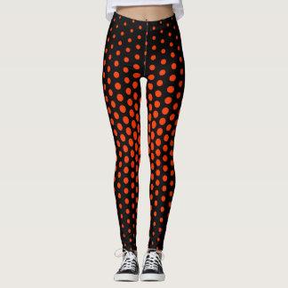 Coquelicot Techno Dot Pattern Leggings