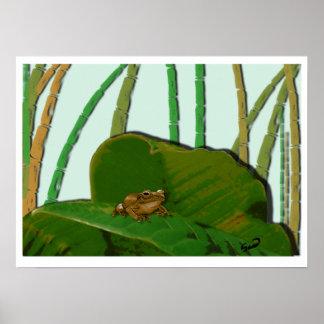 Coquí en su ambiente natural Coquí natural habitat Posters