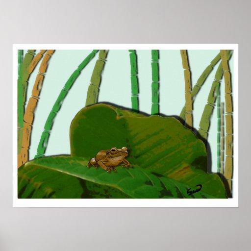Coquí en su ambiente natural/Coquí natural habitat Posters