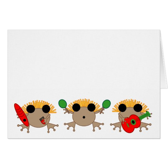 Coqui Parranda CHRISTMAS CARD in Spanish