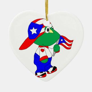 Coqui Puerto Rico Pride Christmas Ornament
