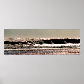 Coquina Beach Shore Break Poster