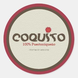 Coquito Puertorriqueno: Coquito from Puerto Rico Classic Round Sticker