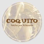 Coquito Puertorriqueño Round Sticker