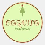 Coquito Puertorriqueno Round Stickers