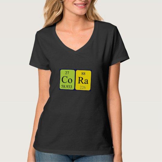 Cora periodic table name shirt