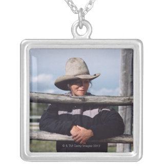 Cora, Wyoming, USA. Silver Plated Necklace
