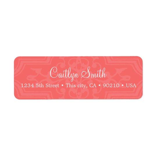 Coral address label
