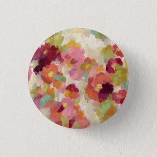 Coral and Emerald Garden 3 Cm Round Badge