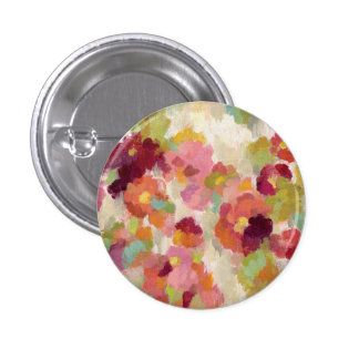 Coral and Emerald Garden 3 Cm Round Badge