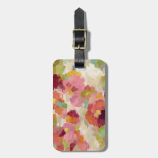 Coral and Emerald Garden Luggage Tag