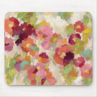 Coral and Emerald Garden Mouse Mat