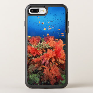 Coral and fish OtterBox symmetry iPhone 8 plus/7 plus case