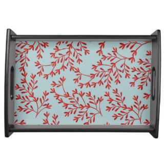 Coral and Ocean Blue Serving Tray