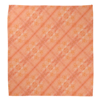 Coral and Orange Marbled Design Bandana