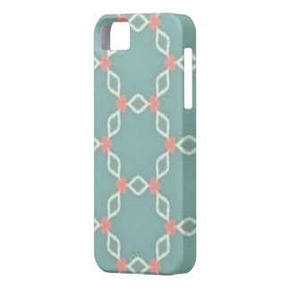 Coral and turquoise geometric phone case