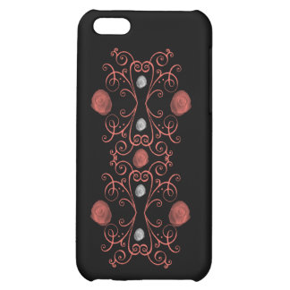 Coral and White Roses with Swirls iPhone 5C Case