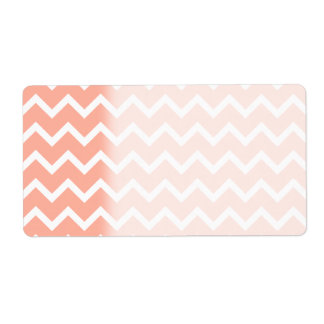 Coral and White Zig Zag Pattern.